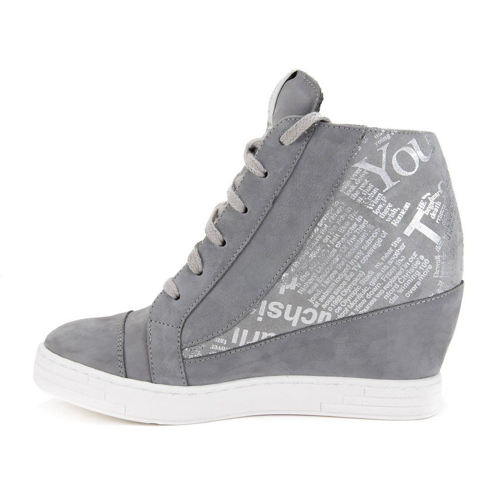 Sneakersy Szare Srebrne Http Www Filippo Pl Sneakersy Claudio Rosetti 857 G Szary Wedge Sneaker Sneakers Shoes
