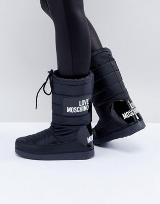 Love Moschino Logo Snow Boots   Boots