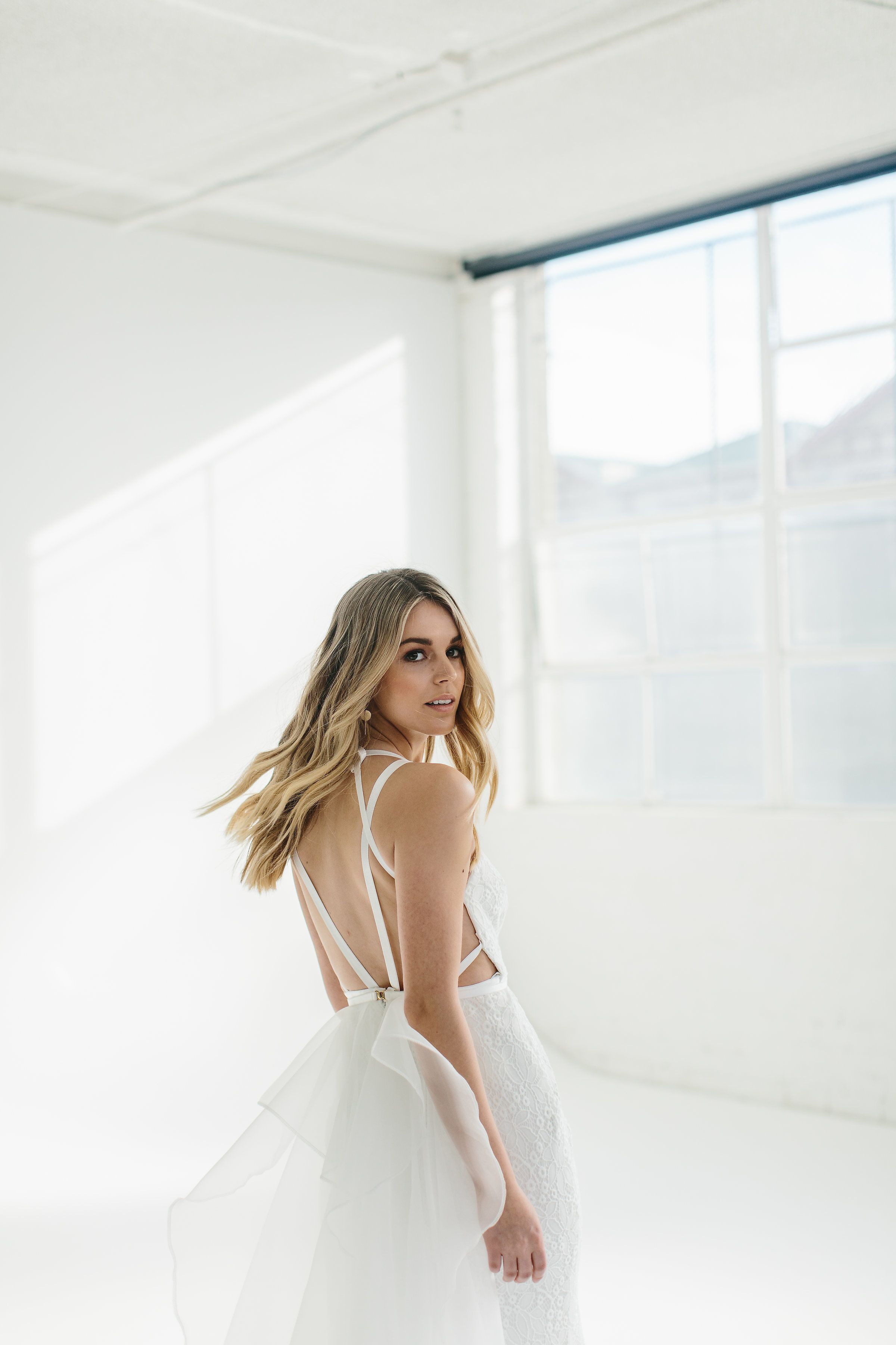 Wedding dress high neck low back  KRISTY  WILD HEARTS   This stretch lace gown features a long