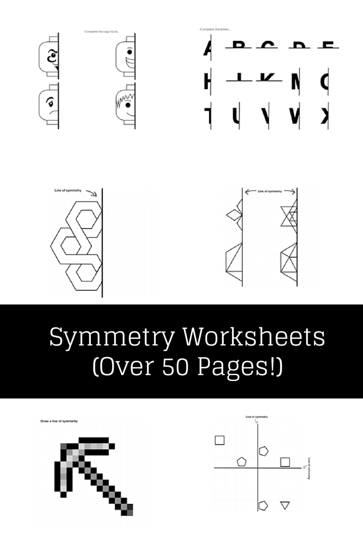 Symmetry / Symmetrical Worksheets Maths Activity - Lego, Minecraft ...