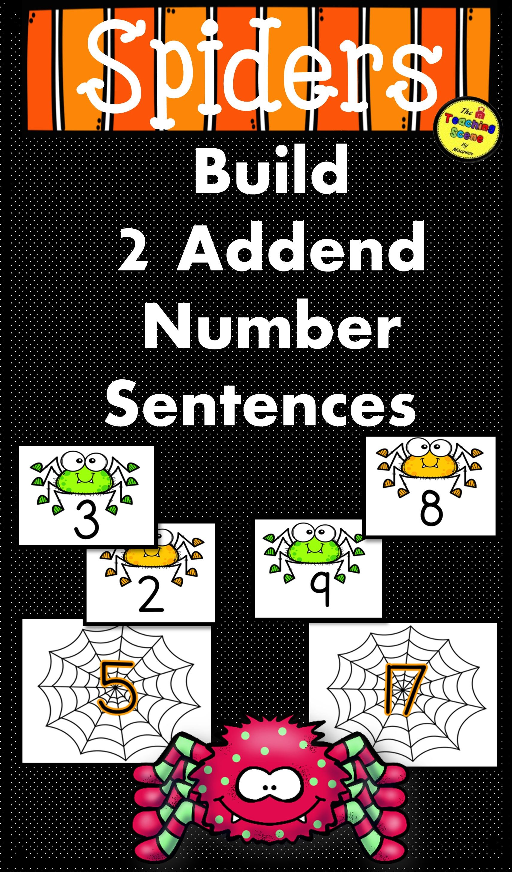 Spiders Build 2 Addend 0 20 Addition Amp Subtraction Number