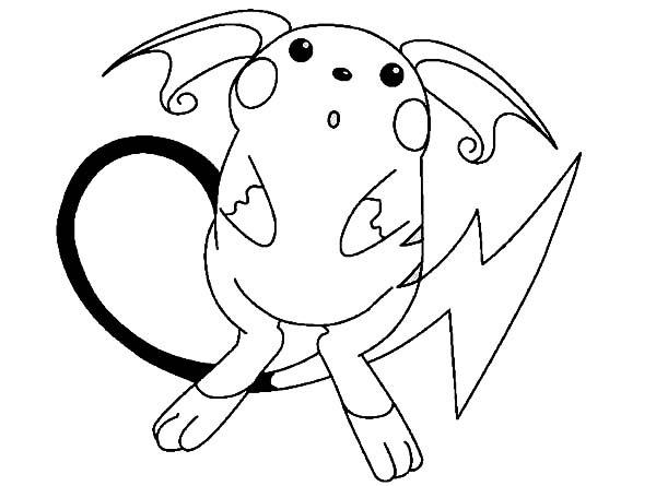 Raichu Is Astonished Coloring Page Color Luna In 2020 Pokemon Coloring Pages Pikachu Coloring Page Pokemon Coloring