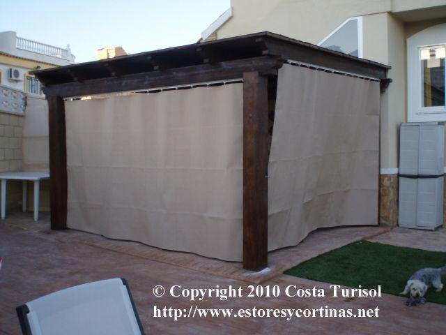 Pin de turisol decorlux en cortinas de lona pinterest for Persianas para terrazas