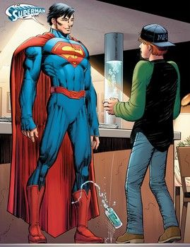The showdown between Superman and Ulysses will push the Man of Steel to new extremes – and Superman's new look is revealed as Clark Kent tells his true identity to one of the cast.