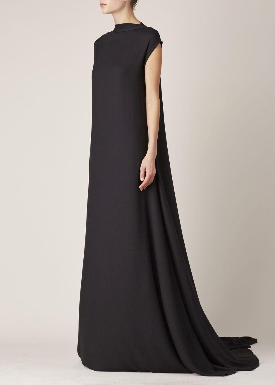 Ann Demeulemeester Infinity Dress Black Wealthy Widow