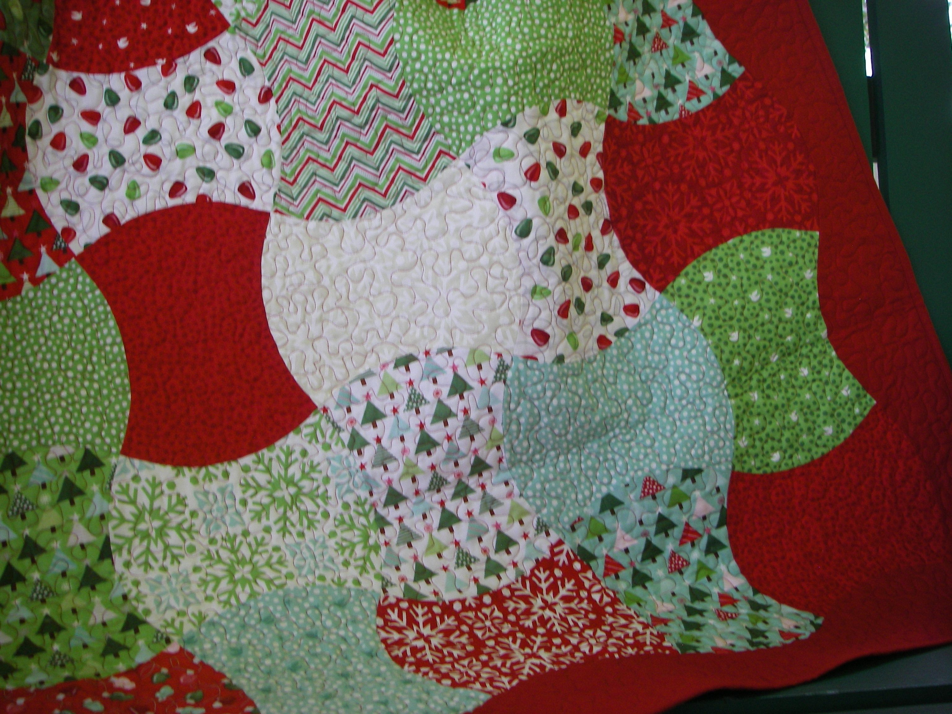 fast and easy this apple core quilt is made with 1 layer cake and