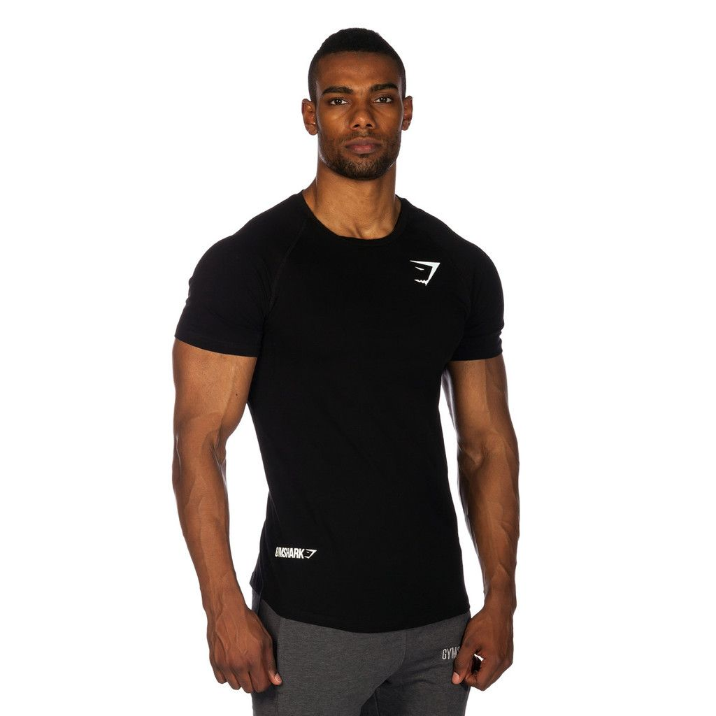 Black t shirt guy - Gymshark Fit Element T Shirt Black All Men S Wear Gymshark International Innovation