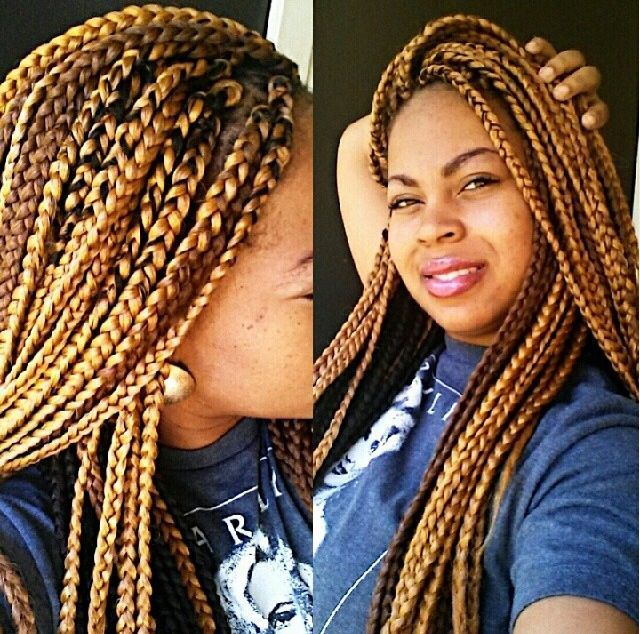 Brown Box Braids Blonde Box Braids Brown Box Braids African