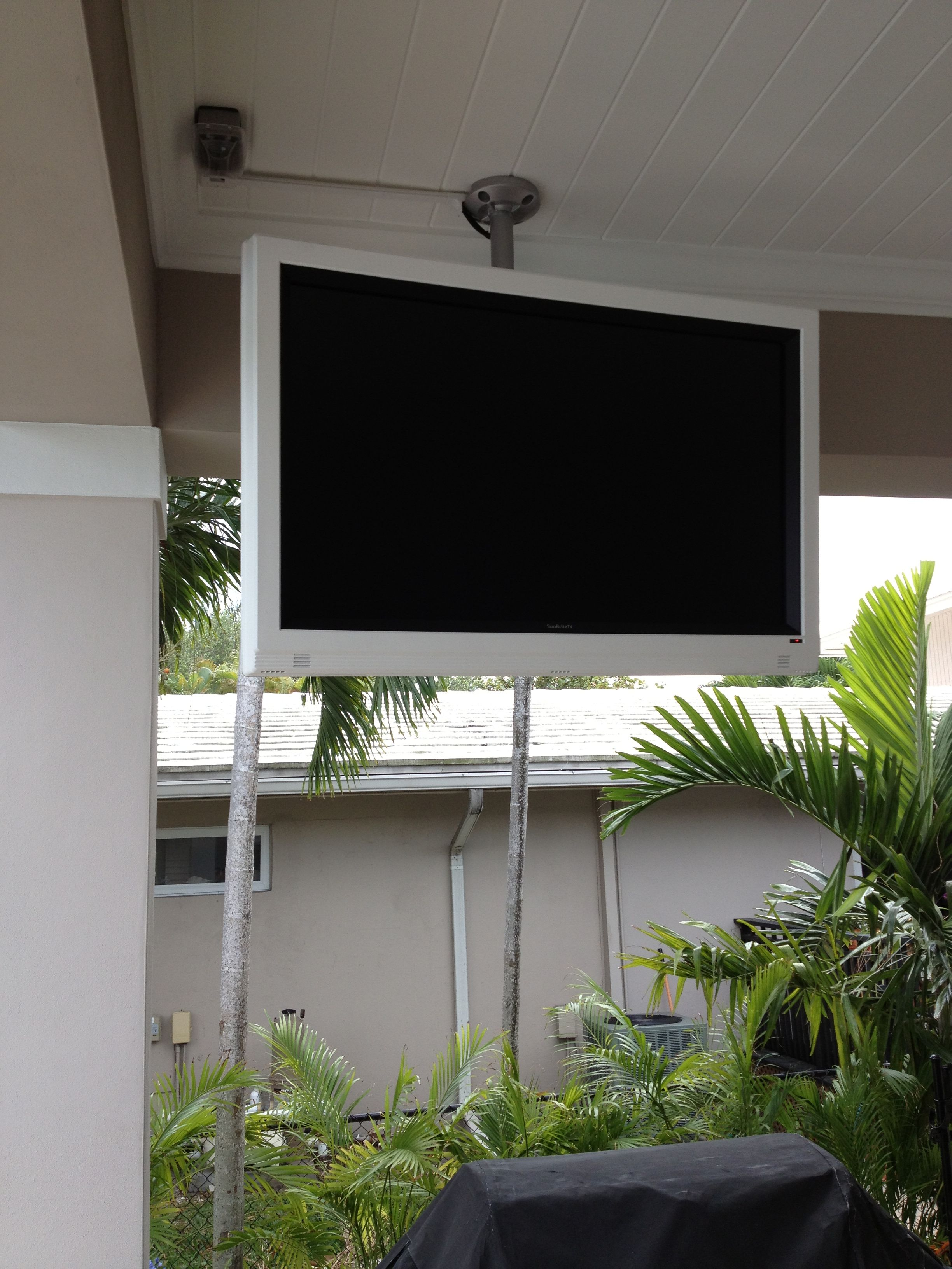 Outdoor tv backyard tv tv custom tv tv lift tv enclosure - Outside Tv