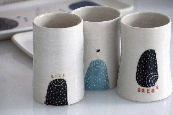 3 tazas de gres esmaltado