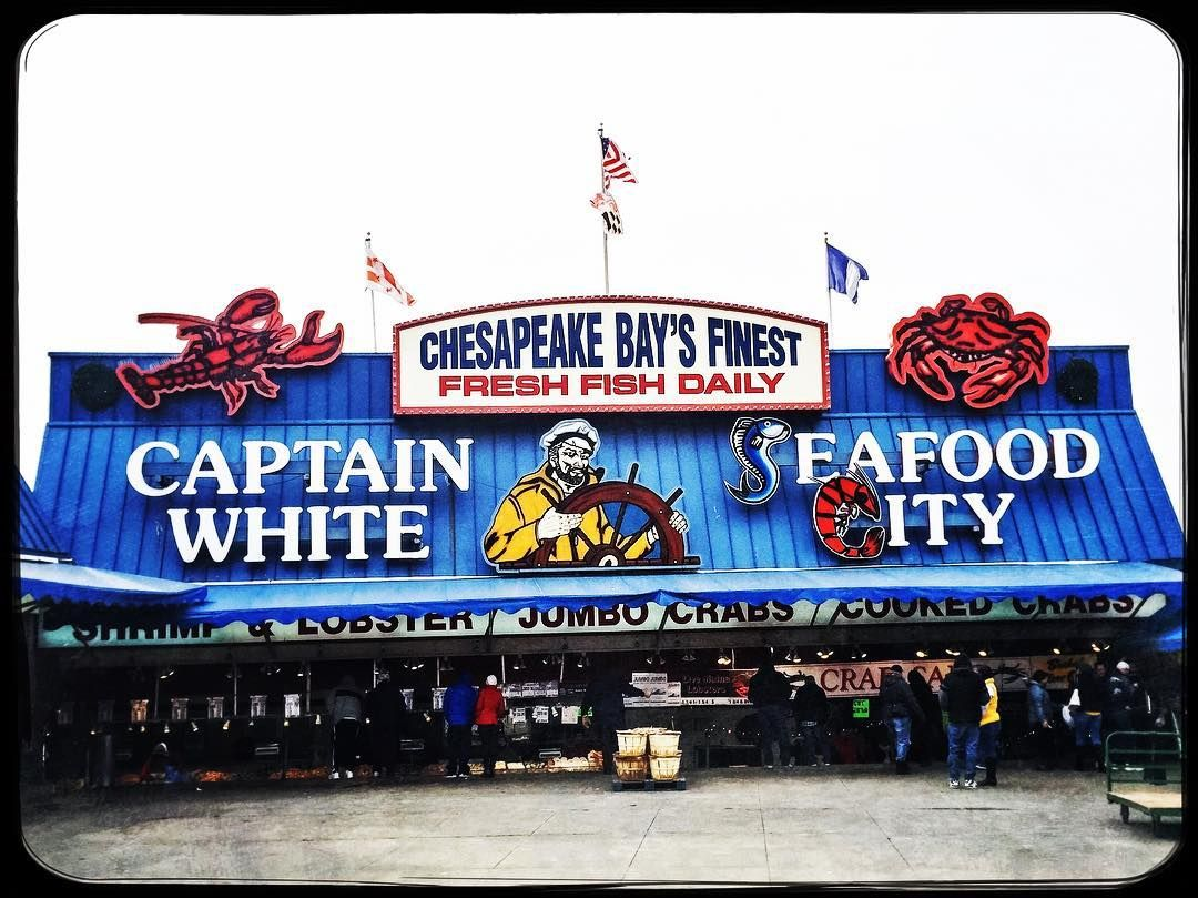 Bonnie On Instagram Captain White I Just This Vintage Sign Down At The Old Waterfront In Washington Seafood Market Vintage Signs Seashore Decor