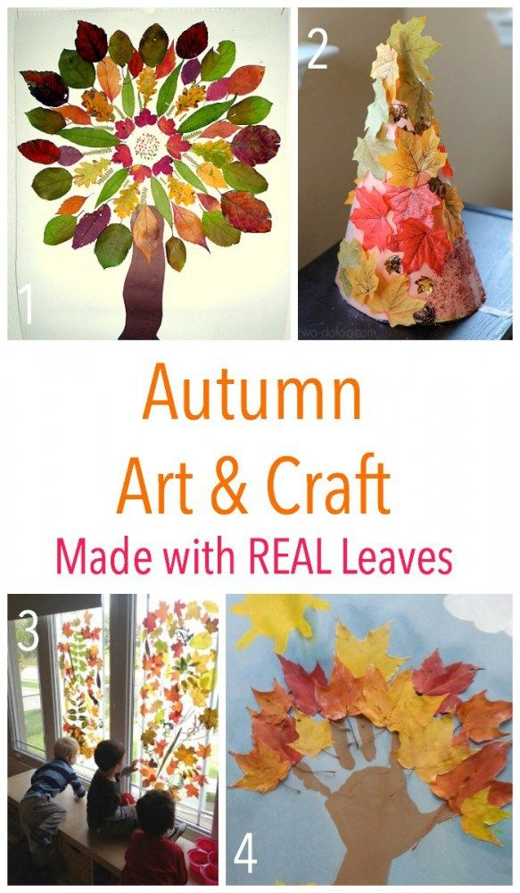 Kids Autumn Art And Craft Ideas Made Using Real Leaves Best Of