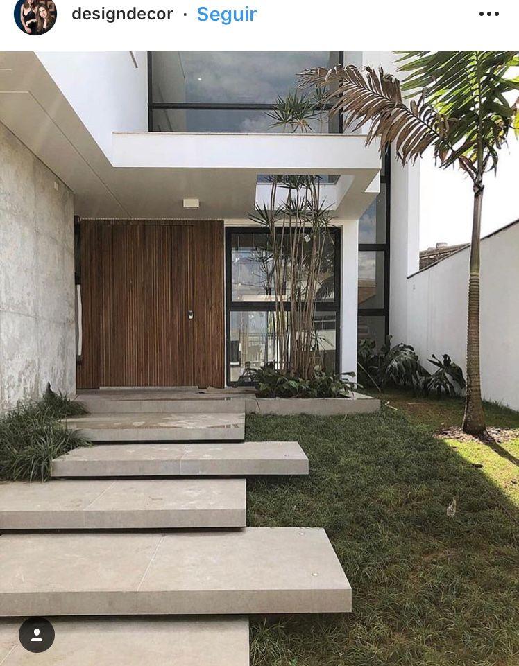 Escalera Entrada Entrada De Casas Modernas Entradas De Casas Fachadas De Casas Modernas