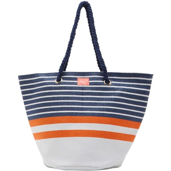 Joules Summerbag Beach Bag , Navy Stripe (€25) ❤ liked on ...