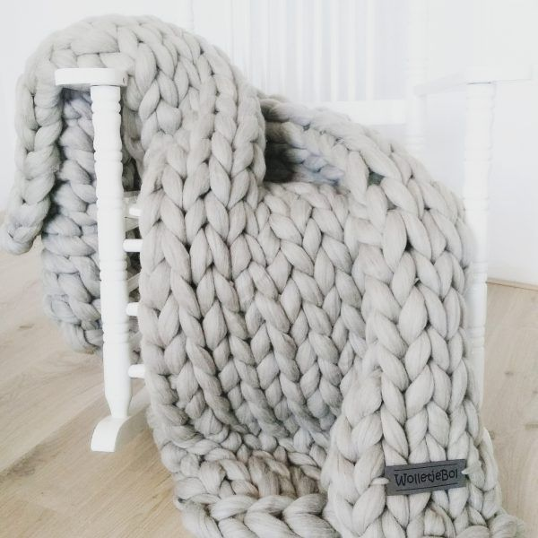 e0508c8aacf632 Big and chunky xxl knit merino wool throw. For styling and decoration of any  place in your house.  merino  wool  interior  grey