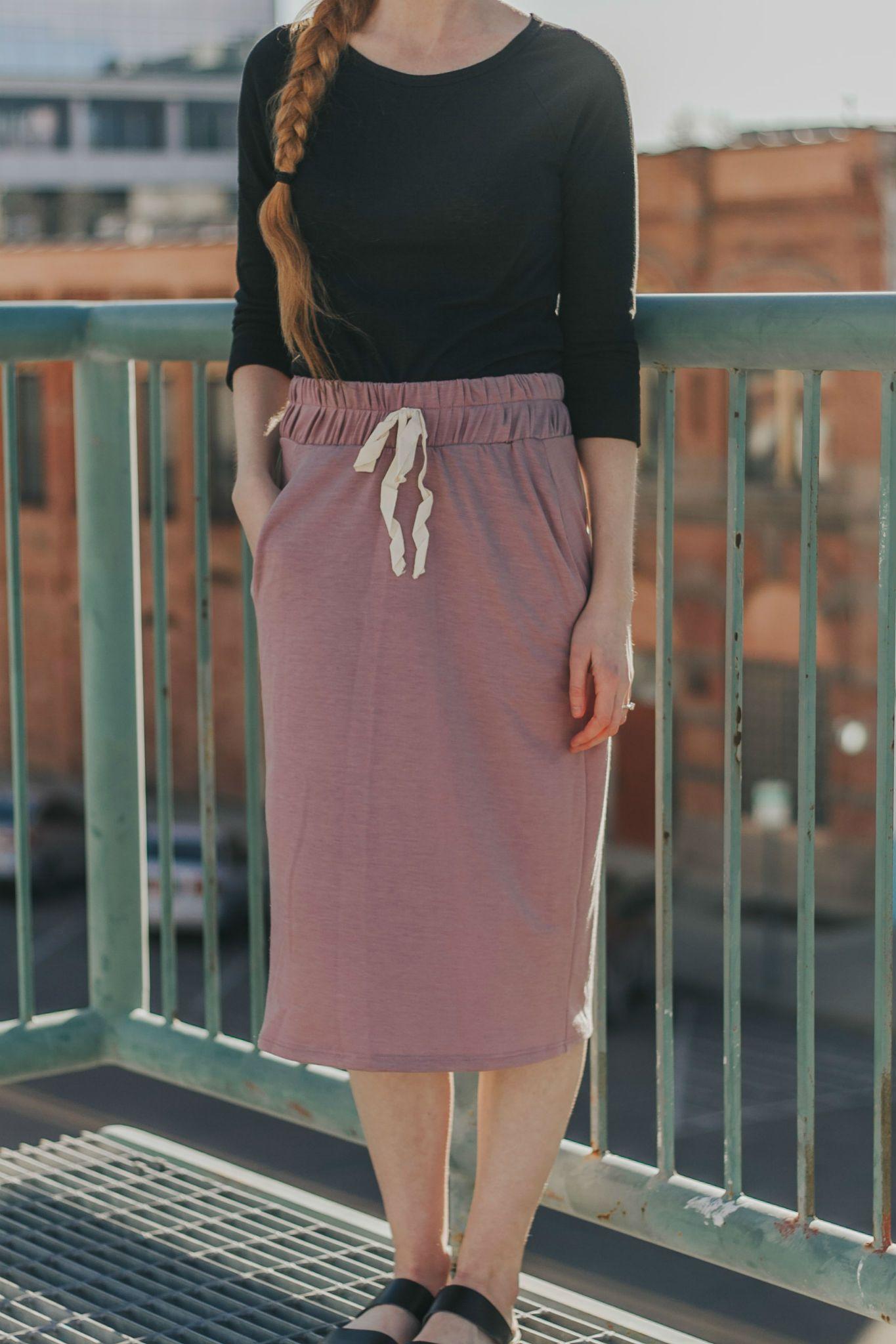 Chloe Jersey Skirt in Lavender