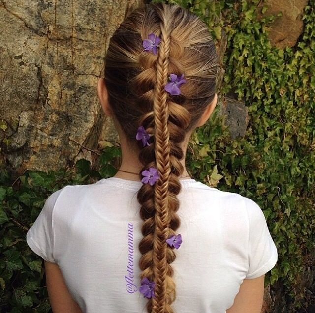 Sorta like what the little girls did to Rapunzel's hair