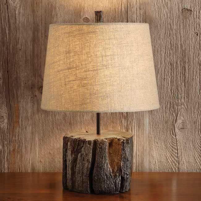 cr er une lampe avec un tronc d arbre 20 id es sublimes deco nel 2019 lampade lampade