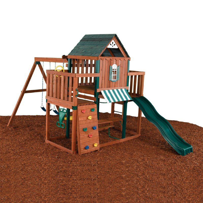 build a swing set and play house | Winchester Swing Set by ...