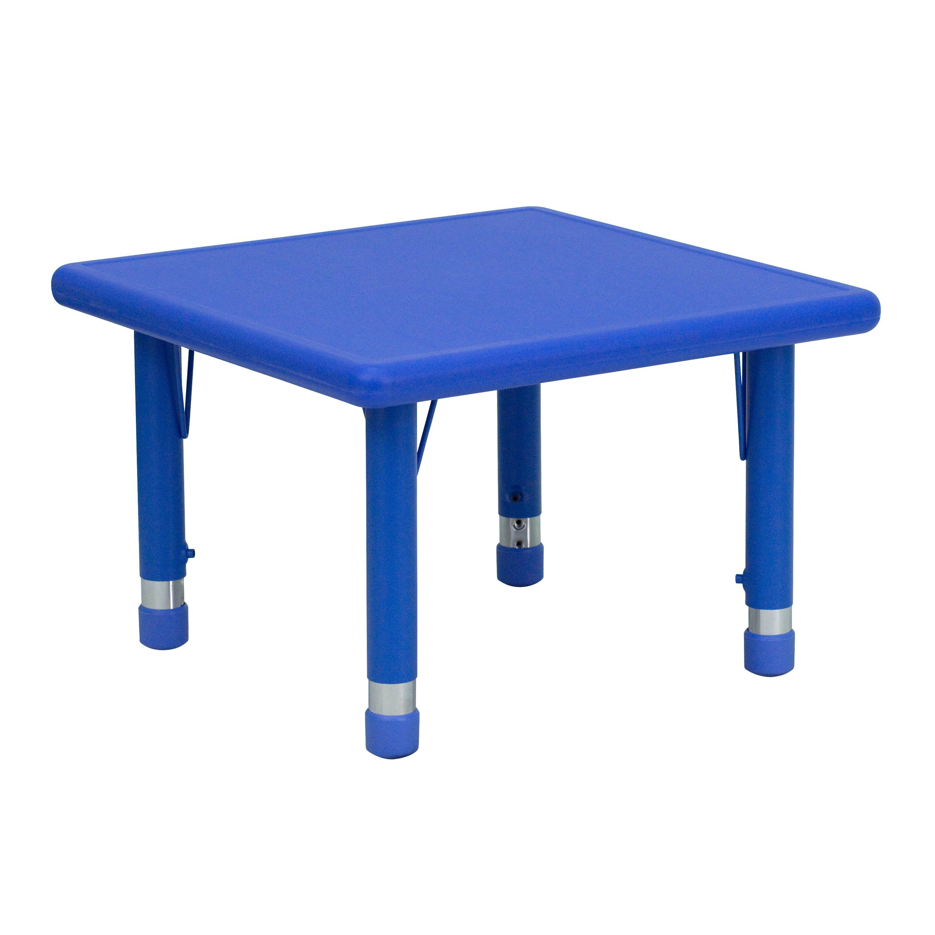 Flash Furniture 24 In Square Adjustable Height Activity Table Kids Activity Table Flash Furniture Activity Table