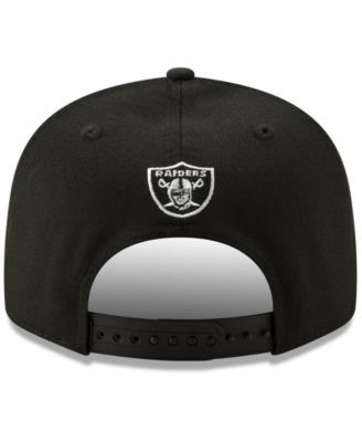3fb1372737d New Era Oakland Raiders Logo Elements Collection 9FIFTY Snapback Cap - Black  Adjustable