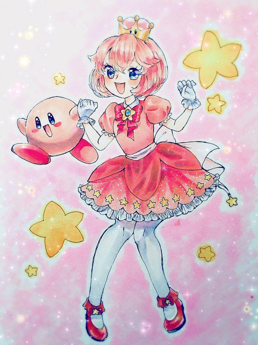 Dr Yiff On Twitter Im Late As Always But Listen Kirbette クッパ姫 Https T Co Bbcn4wwbxx Twitter Anime Paper Mario Fan Art Kirby Art