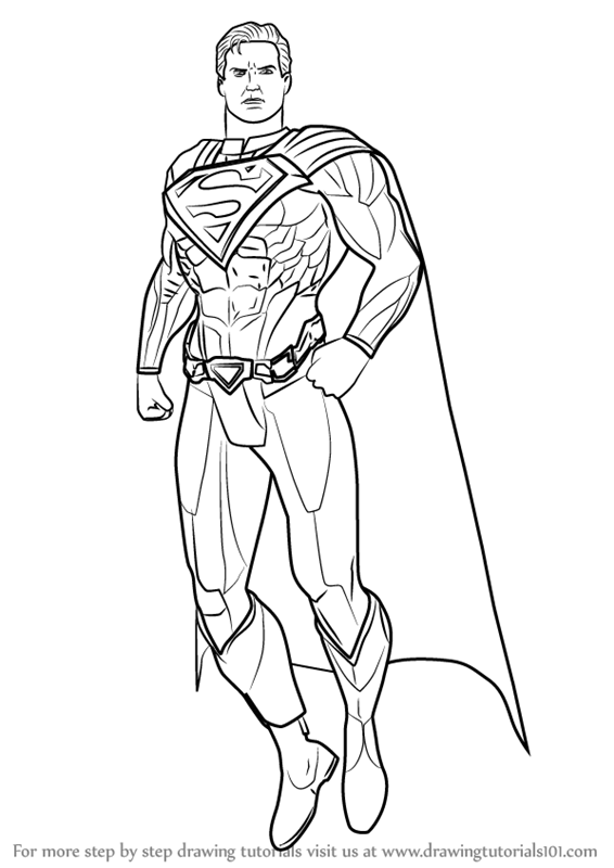 Learn How To Draw Superman From Injustice Gods Among Us Injustice Gods Among Us Step By Step Drawing Tutorials Superman Drawing Coloring Pages Drawings