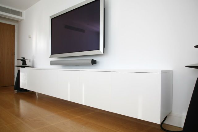 Charming Stunning Decoration Wall Mounted Av Cabinet Surprising Design Floating AV  With TV Our Projects