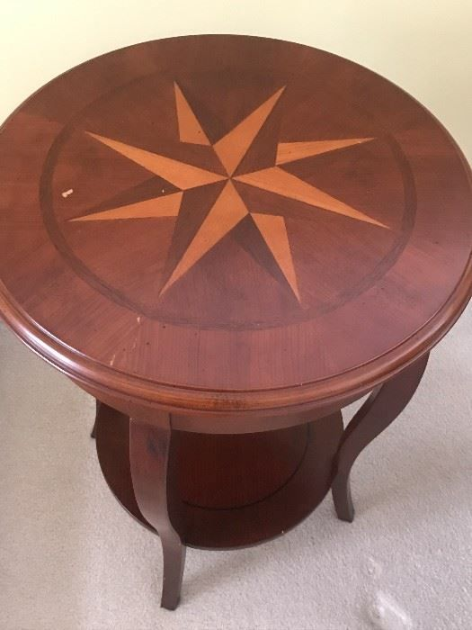 Found on EstateSales NET Marquetry Side Table from Bombay