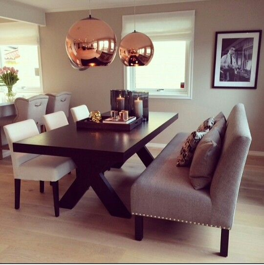 Gold Dining Room: Love The Dining Set But Not The Light Fixtures