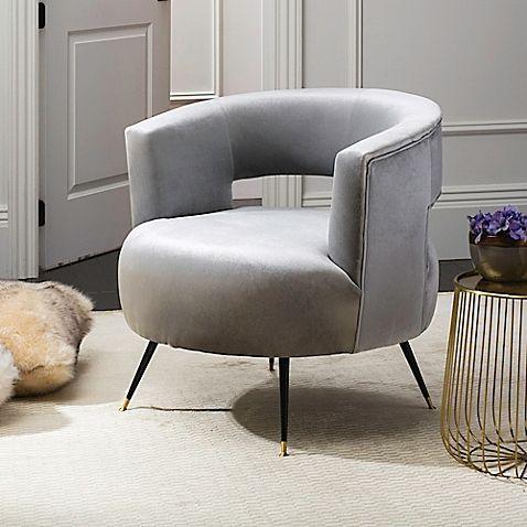 Safavieh Manet Velvet Accent Chair Living Room Chairs