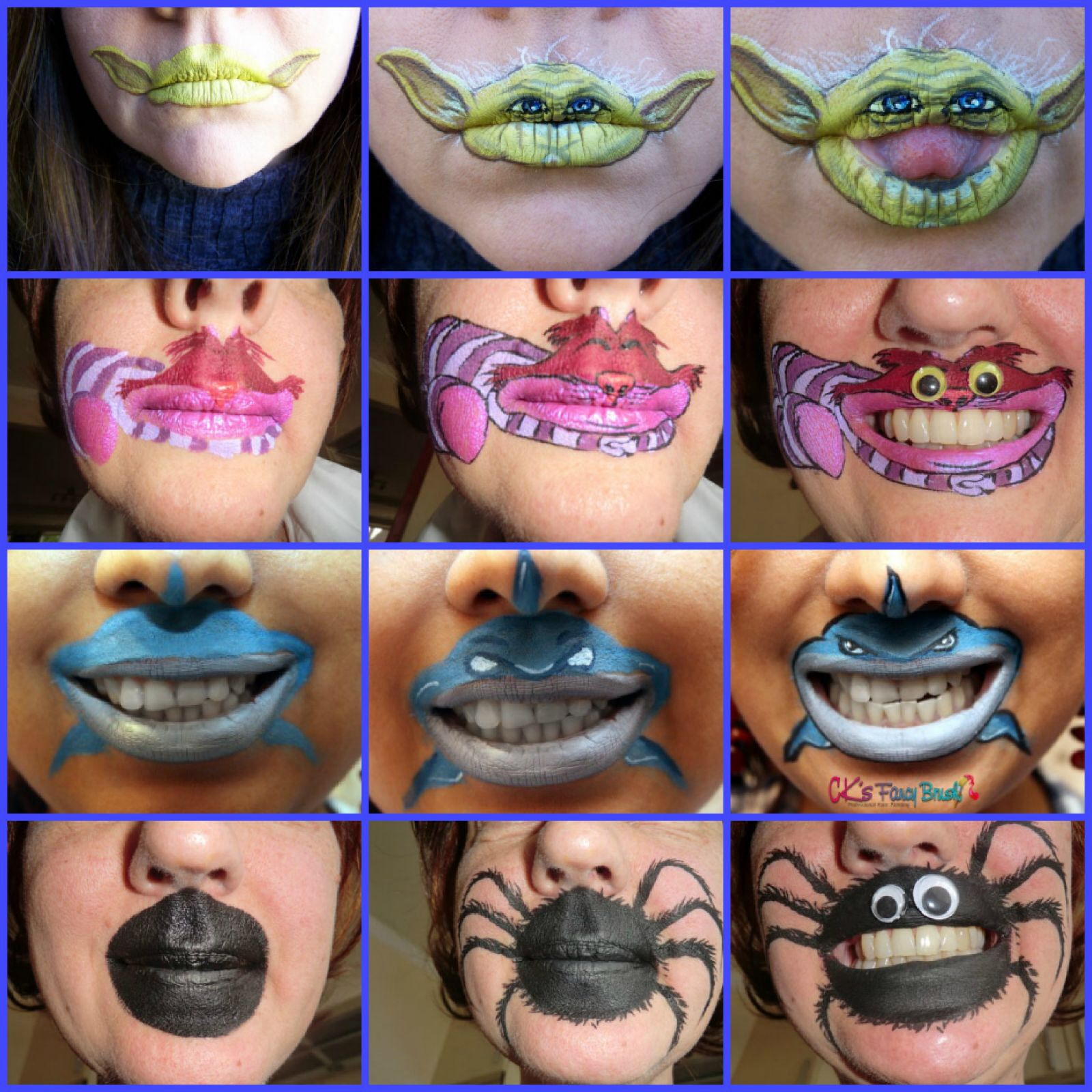 fun face paint ideas using the mouth in your design. Black Bedroom Furniture Sets. Home Design Ideas