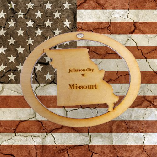 Beautifully Handcrafted Missouri Christmas Ornament! Personalized Free!