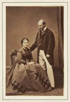 Princess Helena of the United Kingdom and Prince Christian of Schleswig-Holstein c.December 1865 (they announced their  engagement on the 5th December 1865) (Royal Collection)