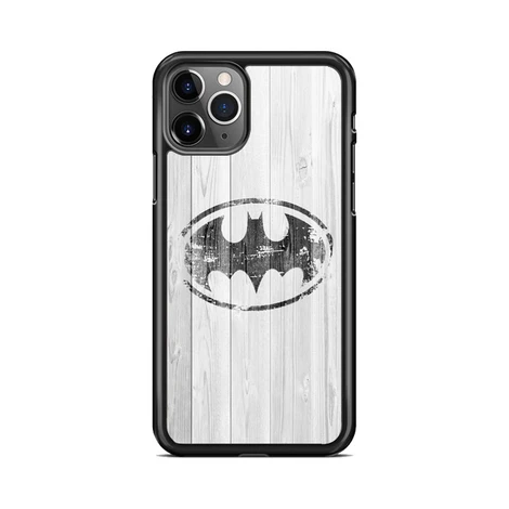 Batman Logo White Wood Wallpaper iPhone 11 Pro Max Case in