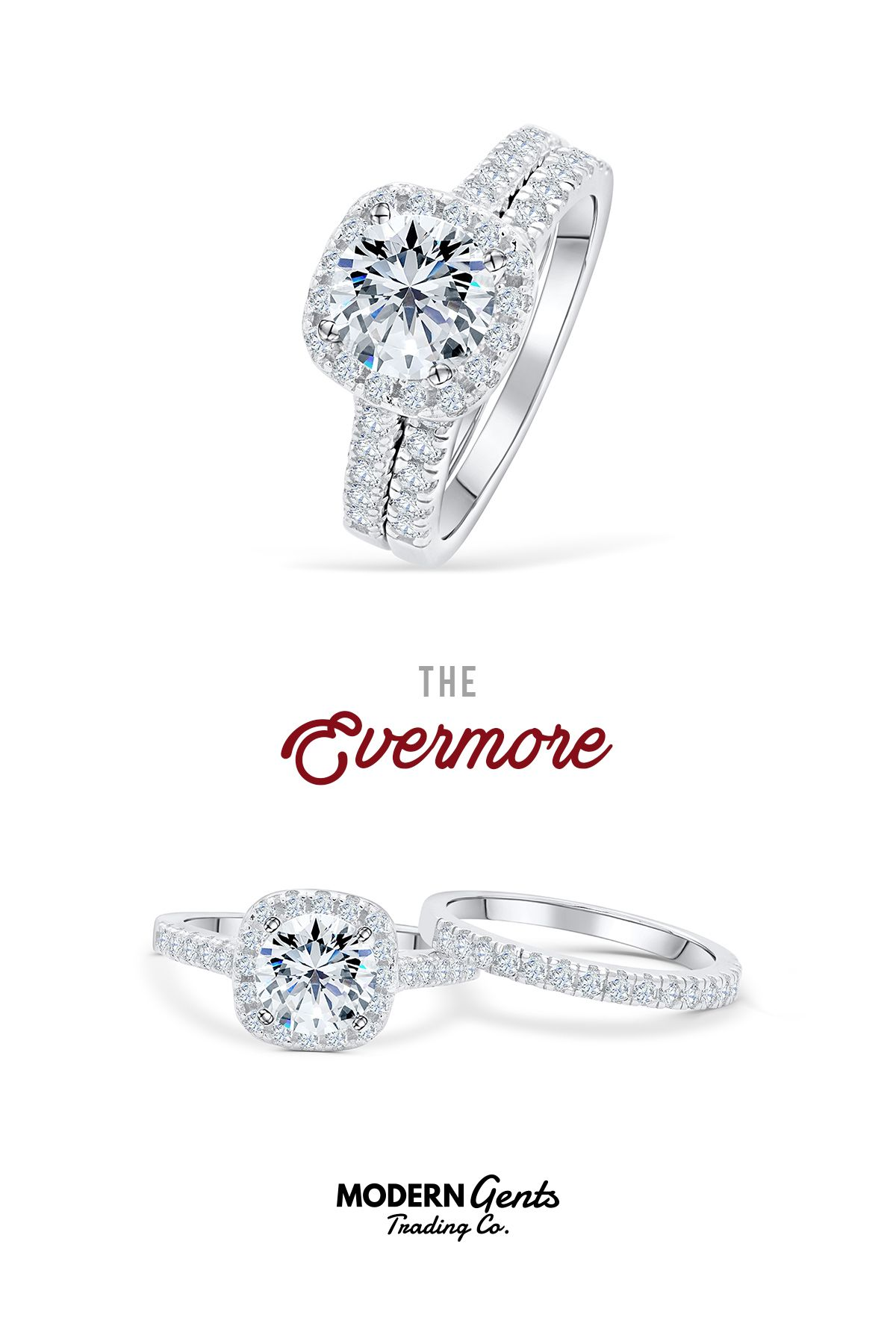 c5fa3c4c99187 The Evermore in 2019 | Affordable Wedding and Engagement Ring Sets ...