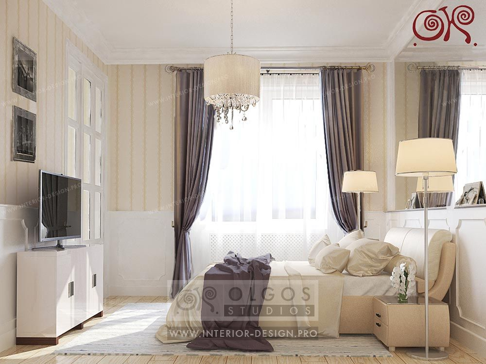 Bedroom interior in Beige Colors Interior design