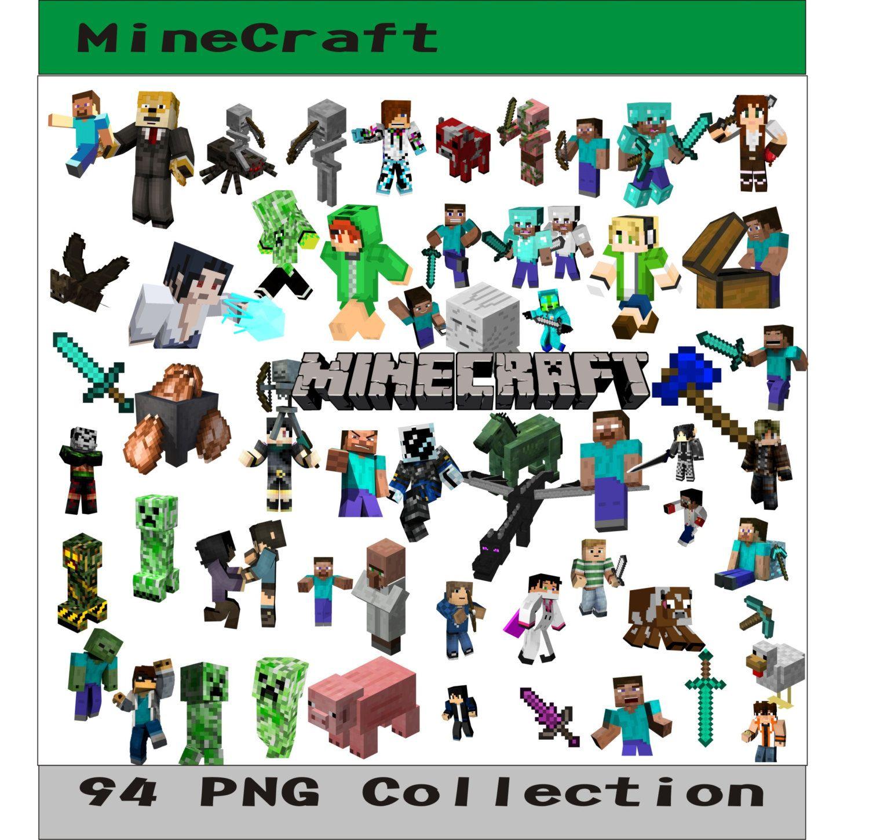 MineCraft PNG Vector Instant Download PNG Disney Clipart