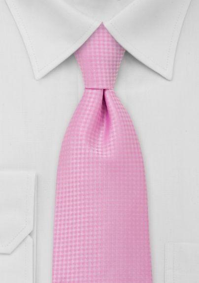Solid Mens Necktie in Light Pink