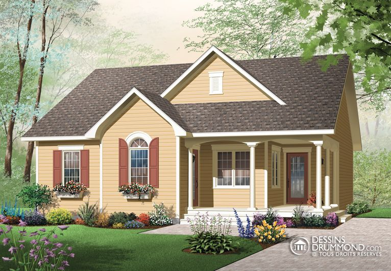 house_plan_maison_plain_pied_Bungalow_W3118 Country