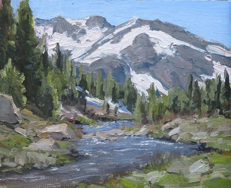 Sierra Spring By Kathleen Dunphy Oil 8 X 10 Landscape Paintings Landscape Art River Painting
