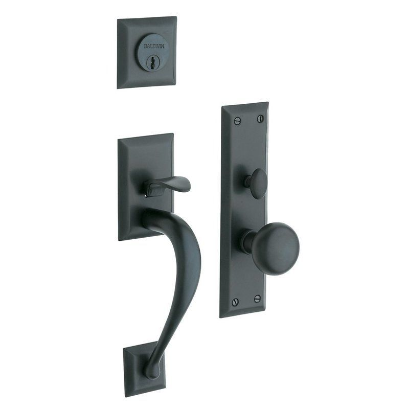 Baldwin 6571.ENTR Concord Single Cylinder Mortise Handleset Trim Set Oil  Rubbed Bronze Mortise Lock Keyed Entry Single Cylinder