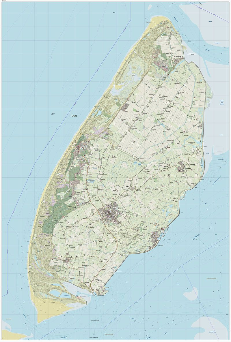 A map of the island of Texel North Holland Wikipedia the free