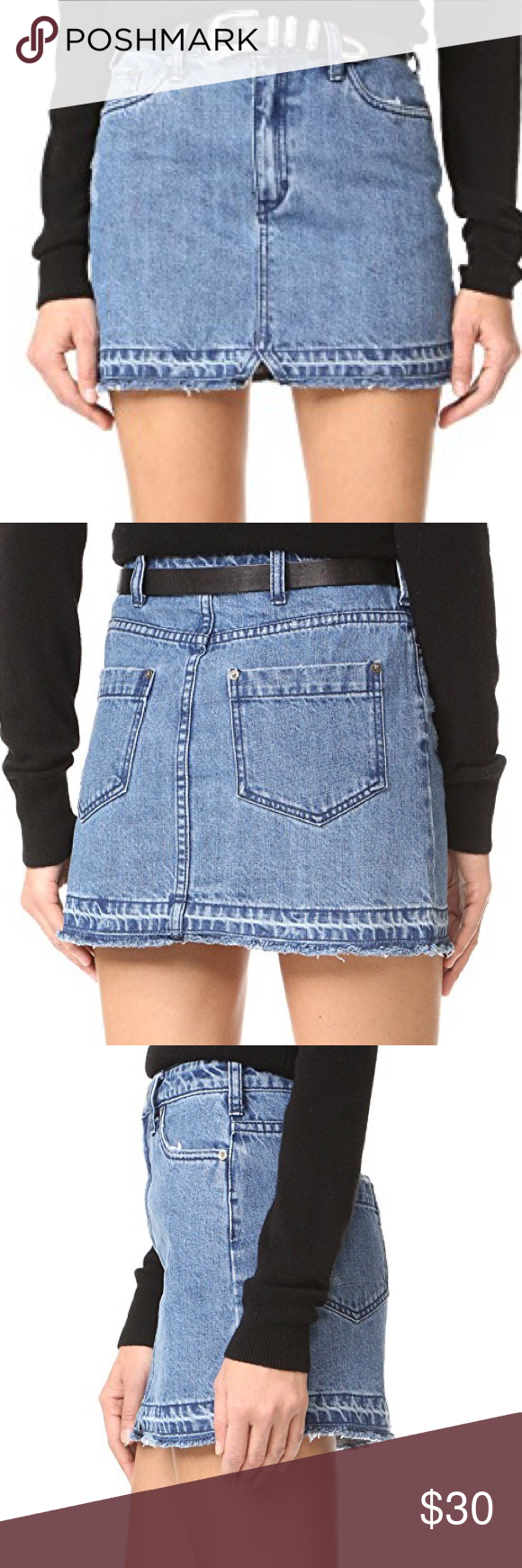 5fa2ce999dd27 Free People Step Up Denim Mini Skirt Super adorable Denim mini from free  people. Too big for me