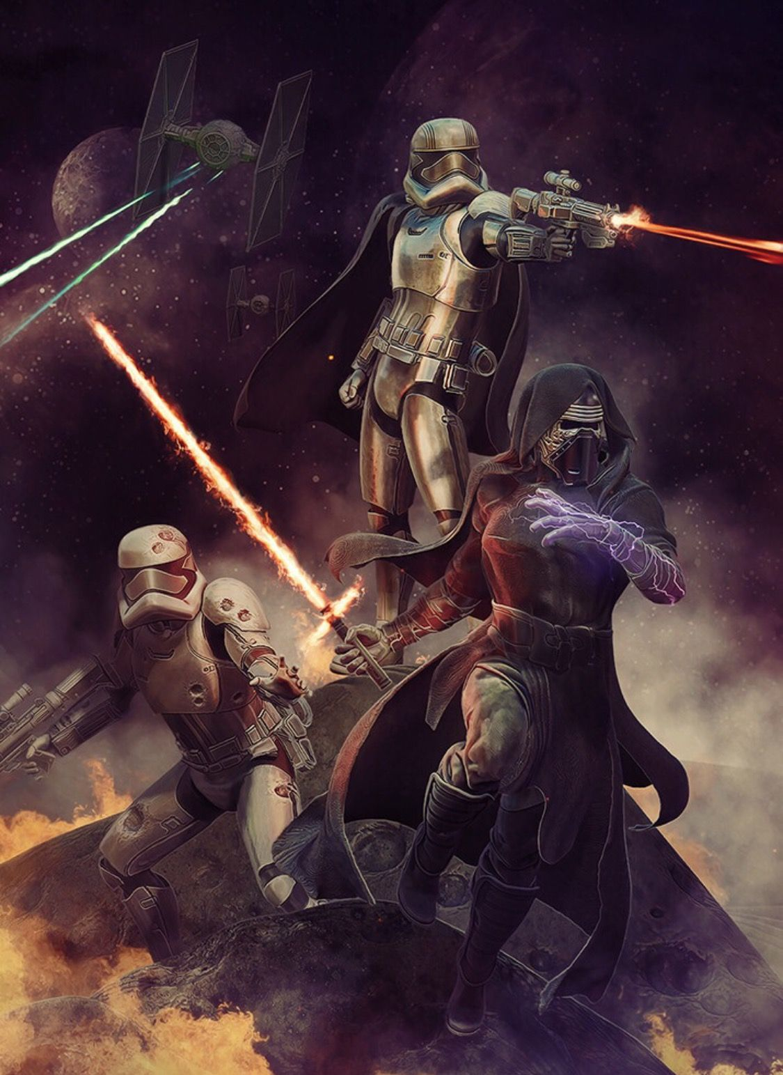 Pin By Amanda Heckenbach On The Force Awakens Star Wars Painting Star Wars Vii Star Wars Images