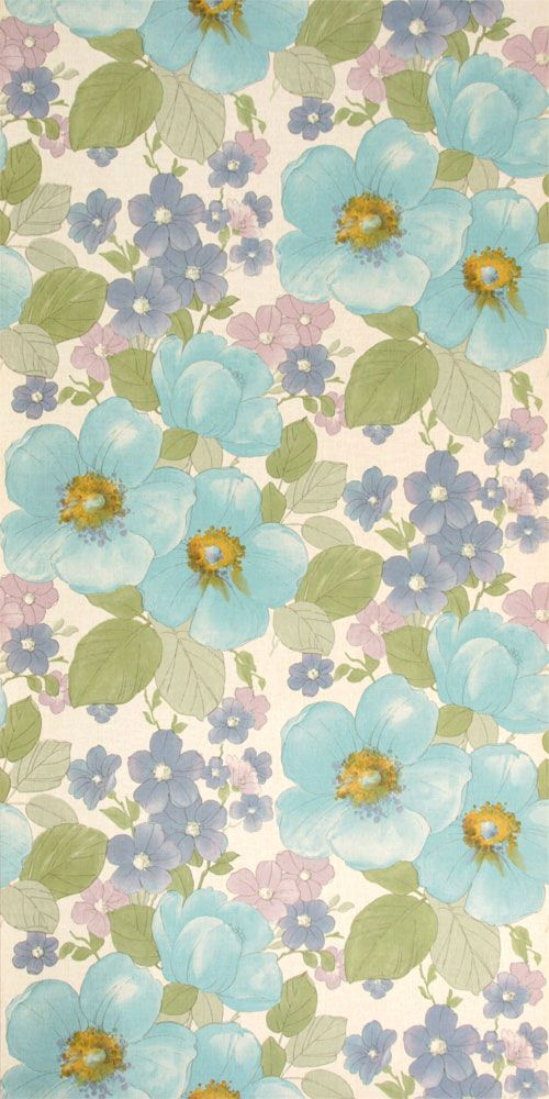 vintage blumen tapete 70er jahre vintage wallpaper pinterest wallpaper pattern wallpaper. Black Bedroom Furniture Sets. Home Design Ideas