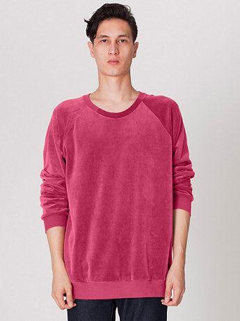 97c3782f860a Velour Long Sleeve Raglan | American Apparel | want // sweatshirts ...