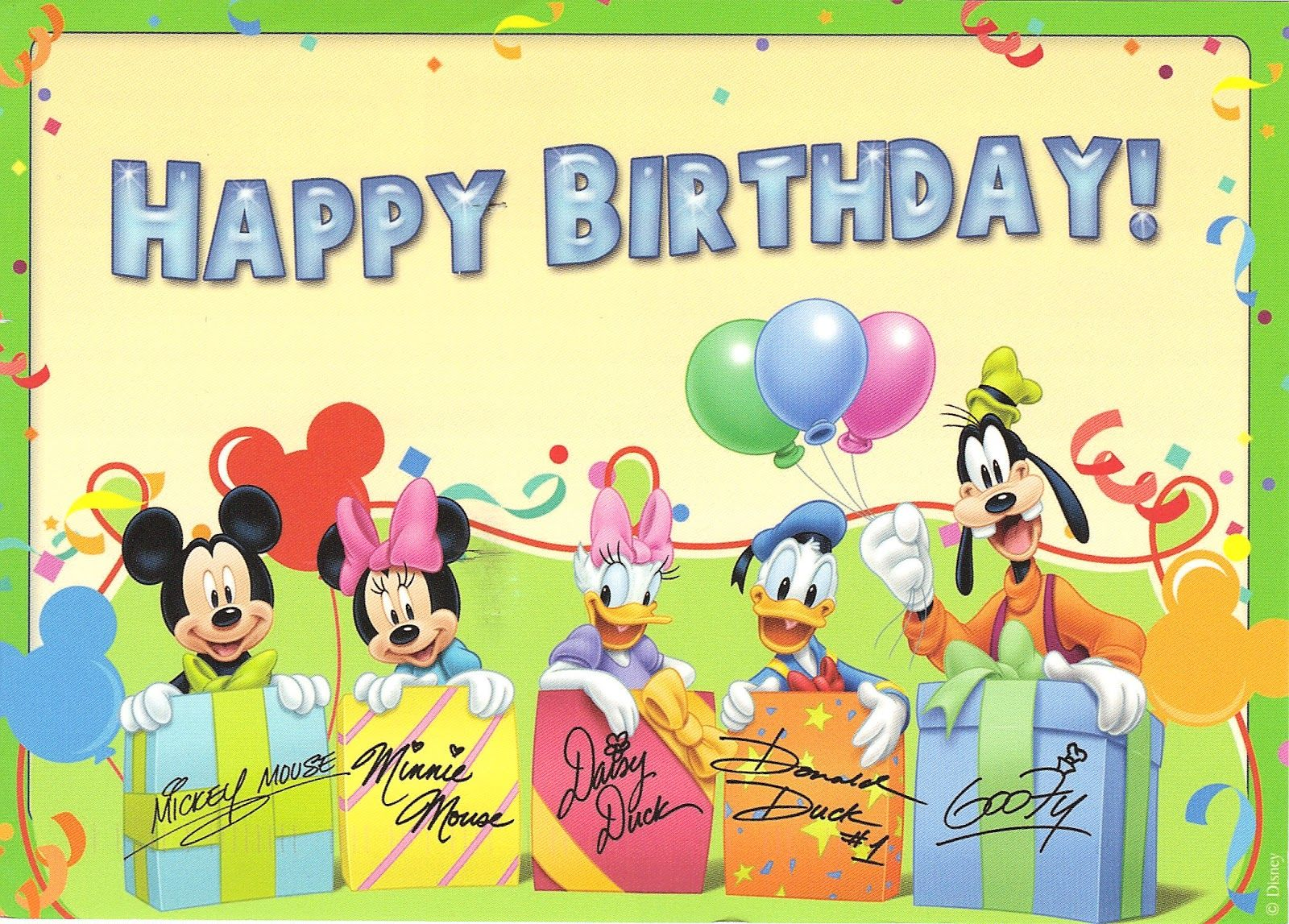 disney birthday cards | Send Birthday Cards to Little ...