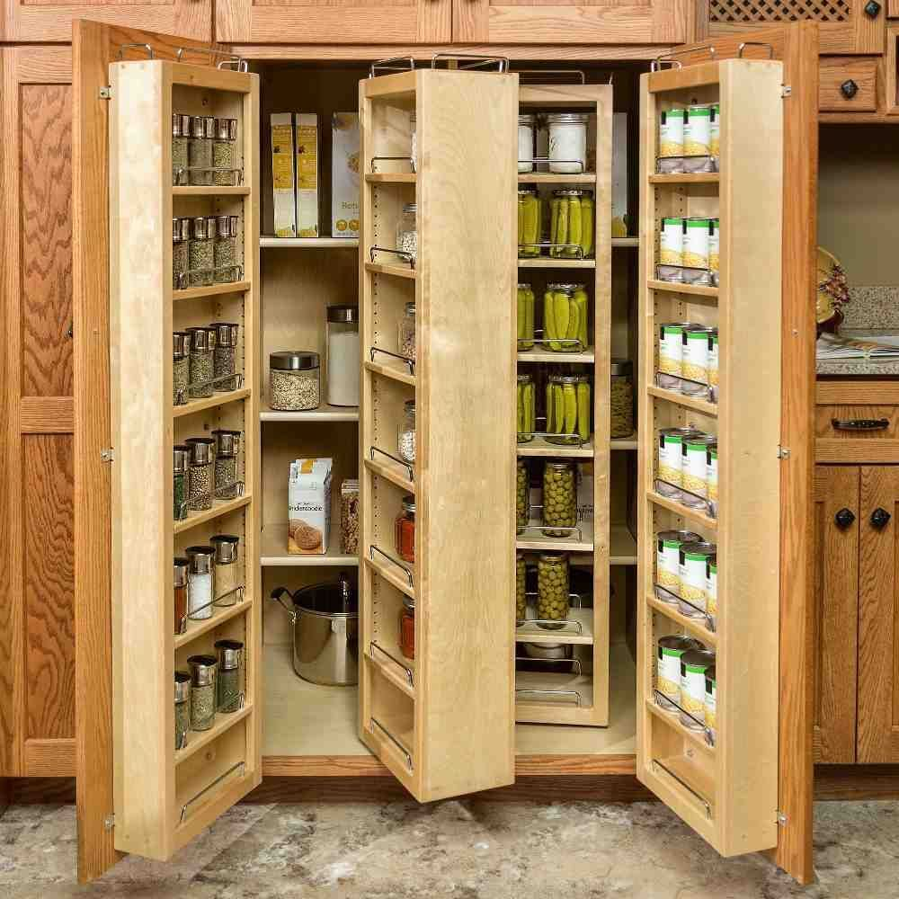 Cabinet Pull Out Shelves Kitchen Pantry Storage: Rotating Food Storage Shelves