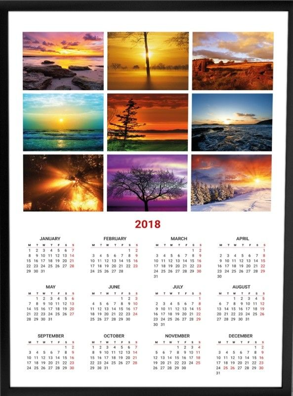 87 Fascinating 2018 Printable Calendar Templates 2018 Will Be A